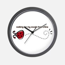 Waiting for my Cousin Wall Clock