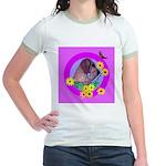Mini Wirehaired Dachshund Jr. Ringer T-Shirt