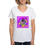 Mini Wirehaired Dachshund Women's V-Neck T-Shirt