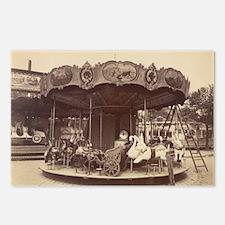 Vintage Carousel Postcards (Package of 8)
