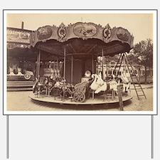 Vintage Carousel Yard Sign