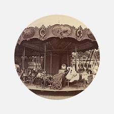"Vintage Carousel 3.5"" Button"