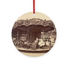 Vintage Carousel Round Ornament