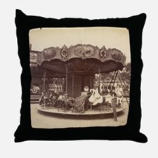 Vintage Carousel Throw Pillow