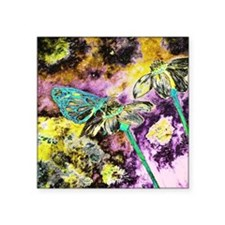 """Electric Blue Butterfly  Square Sticker 3"""" x 3"""""""