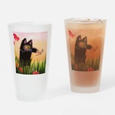 Catzilla With Dragonfly Drinking Glass