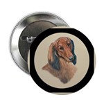Longhaired Dachshund head stu Button