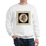 Longhaired Dachshund head stu Sweatshirt