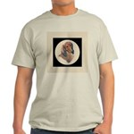 Longhaired Dachshund head stu Light T-Shirt
