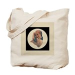 Longhaired Dachshund head stu Tote Bag