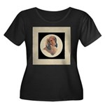 Longhaired Dachshund head stu Women's Plus Size Sc