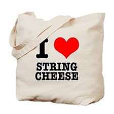 I Heart (Love) String Cheese Tote Bag