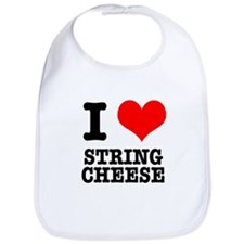 I Heart (Love) String Cheese Bib