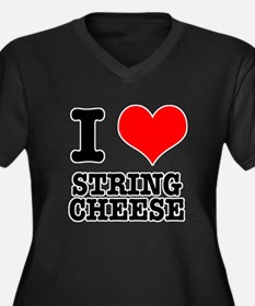 I Heart (Love) String Cheese Women's Plus Size V-N