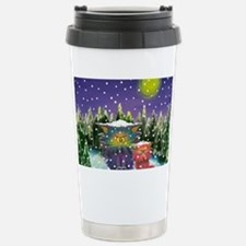 2 Cranky Cats In Snowst Stainless Steel Travel Mug
