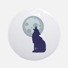 Coyote Moon Ornament (Round)