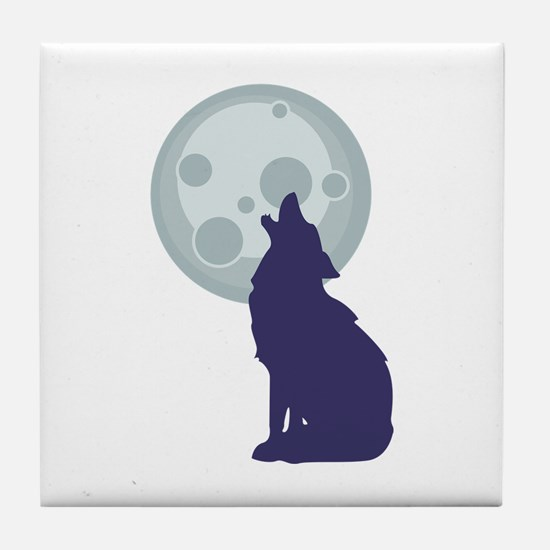 Coyote Moon Tile Coaster