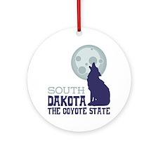 SOUTH DAKOTA THE COYOTE STATE Ornament (Round)