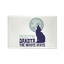 SOUTH DAKOTA THE COYOTE STATE Magnets