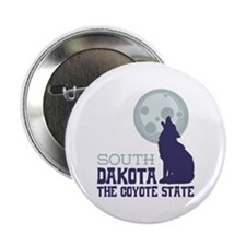 "SOUTH DAKOTA THE COYOTE STATE 2.25"" Button"