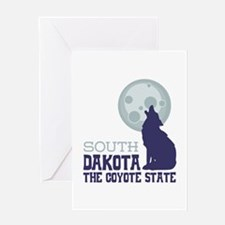 SOUTH DAKOTA THE COYOTE STATE Greeting Cards
