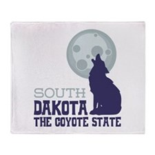 SOUTH DAKOTA THE COYOTE STATE Throw Blanket