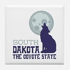SOUTH DAKOTA THE COYOTE STATE Tile Coaster
