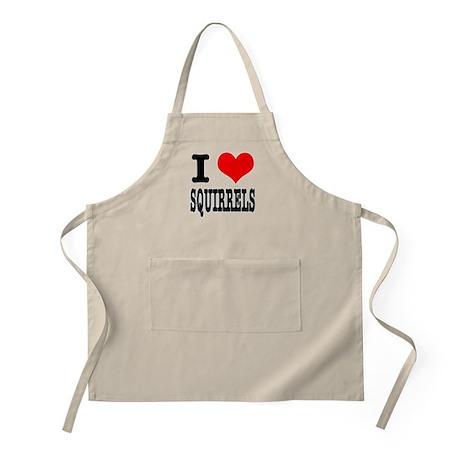 I Heart (Love) Squirrels BBQ Apron