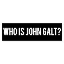 Who Is John Galt Bumper Car Car Sticker