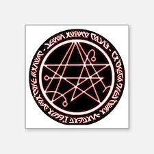 """Alien Necronomicon Sigil Square Sticker 3"""" x 3"""""""