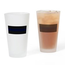 Police Carbon Fiber Thin Blue Line Drinking Glass