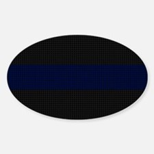 Police Carbon Fiber Thin Blue Line Decal