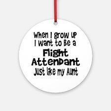 WIGU Flight Attendant Aunt Ornament (Round)