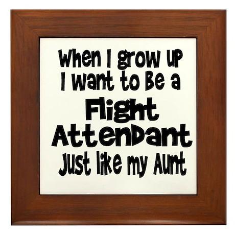 WIGU Flight Attendant Aunt Framed Tile
