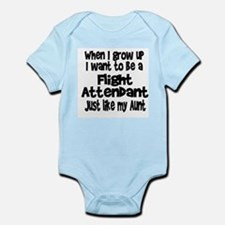 WIGU Flight Attendant Aunt Infant Bodysuit