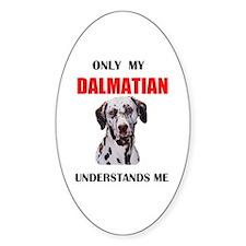 MY DALMATIAN Oval Decal