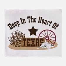 Deep In The Heart Of TEXAS Throw Blanket