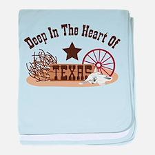 Deep In The Heart Of TEXAS baby blanket