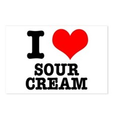 I Heart (Love) Sour Cream Postcards (Package of 8)
