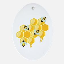 Honey Beehive Ornament (Oval)