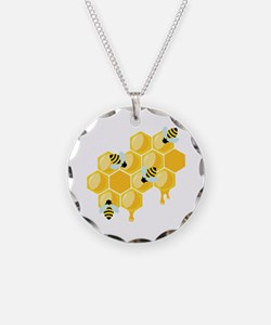 Honey Beehive Necklace
