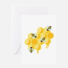 Honey Beehive Greeting Cards
