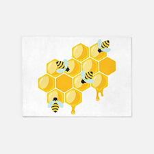 Honey Beehive 5'x7'Area Rug