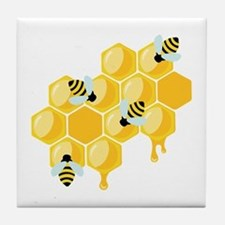 Honey Beehive Tile Coaster