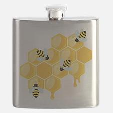 Honey Beehive Flask