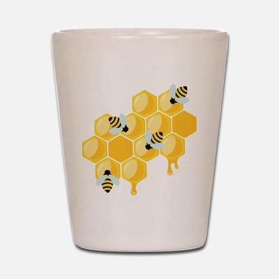 Honey Beehive Shot Glass