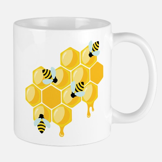Honey Beehive Mugs