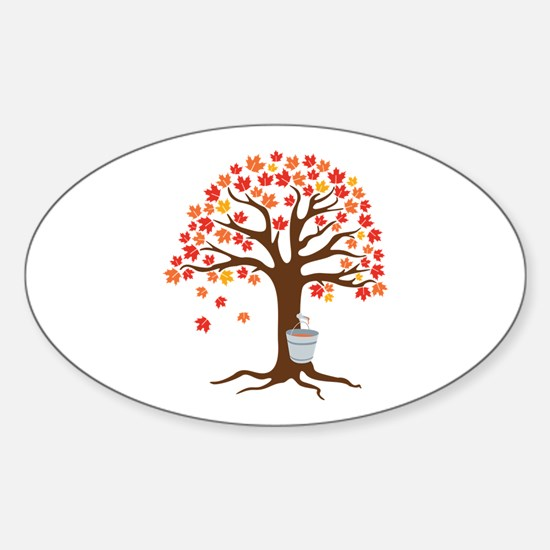 Maple Syrup Tree Decal