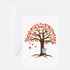 Maple Syrup Tree Greeting Cards