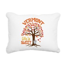 VERMONT Life Is SWEET Rectangular Canvas Pillow